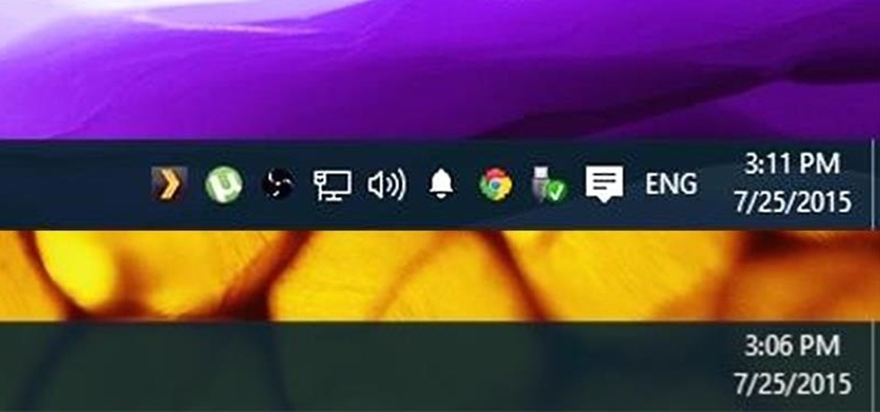 Hide System Tray Icons on Windows 10