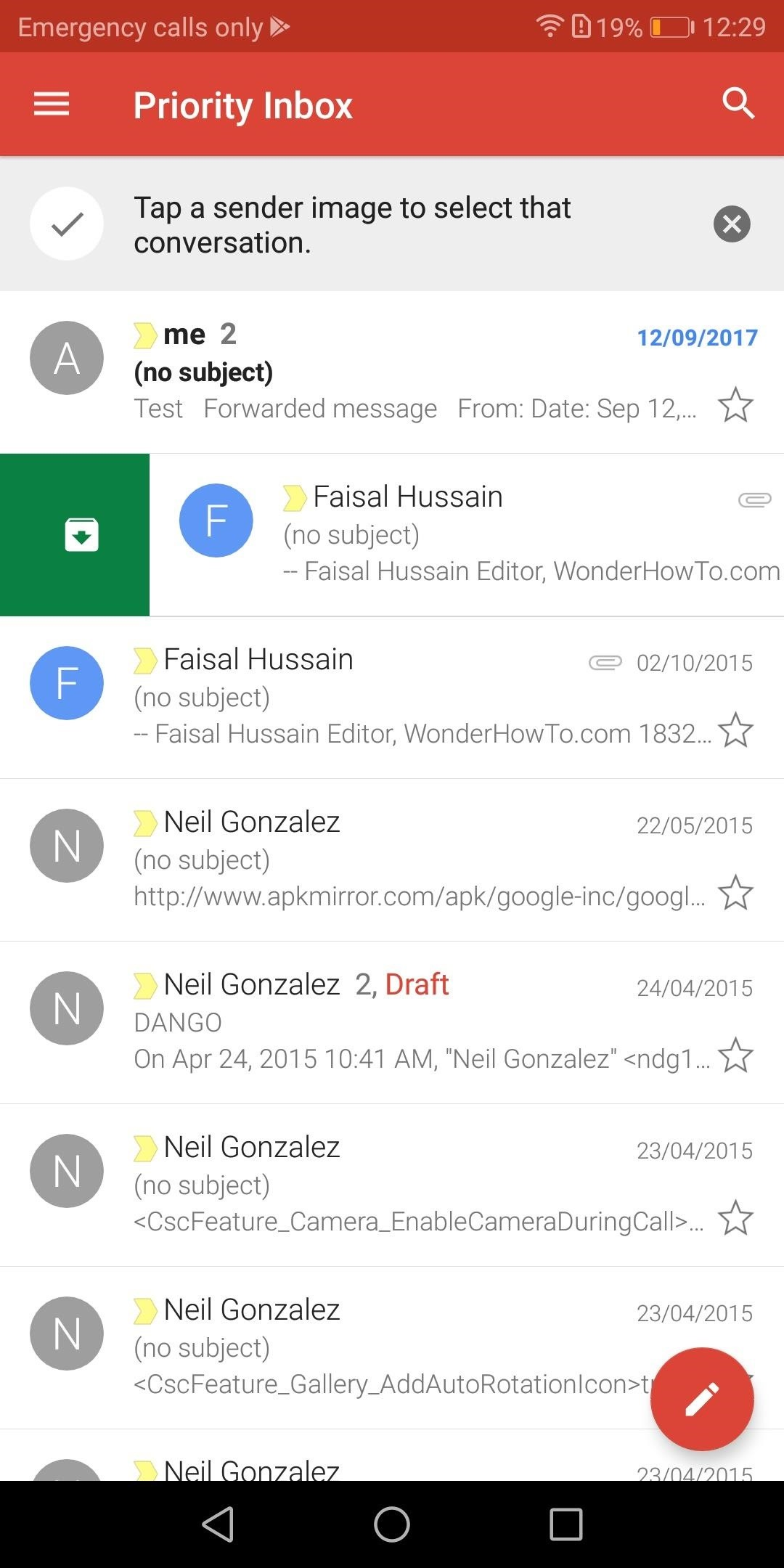 how to delete emails in gmail inbox