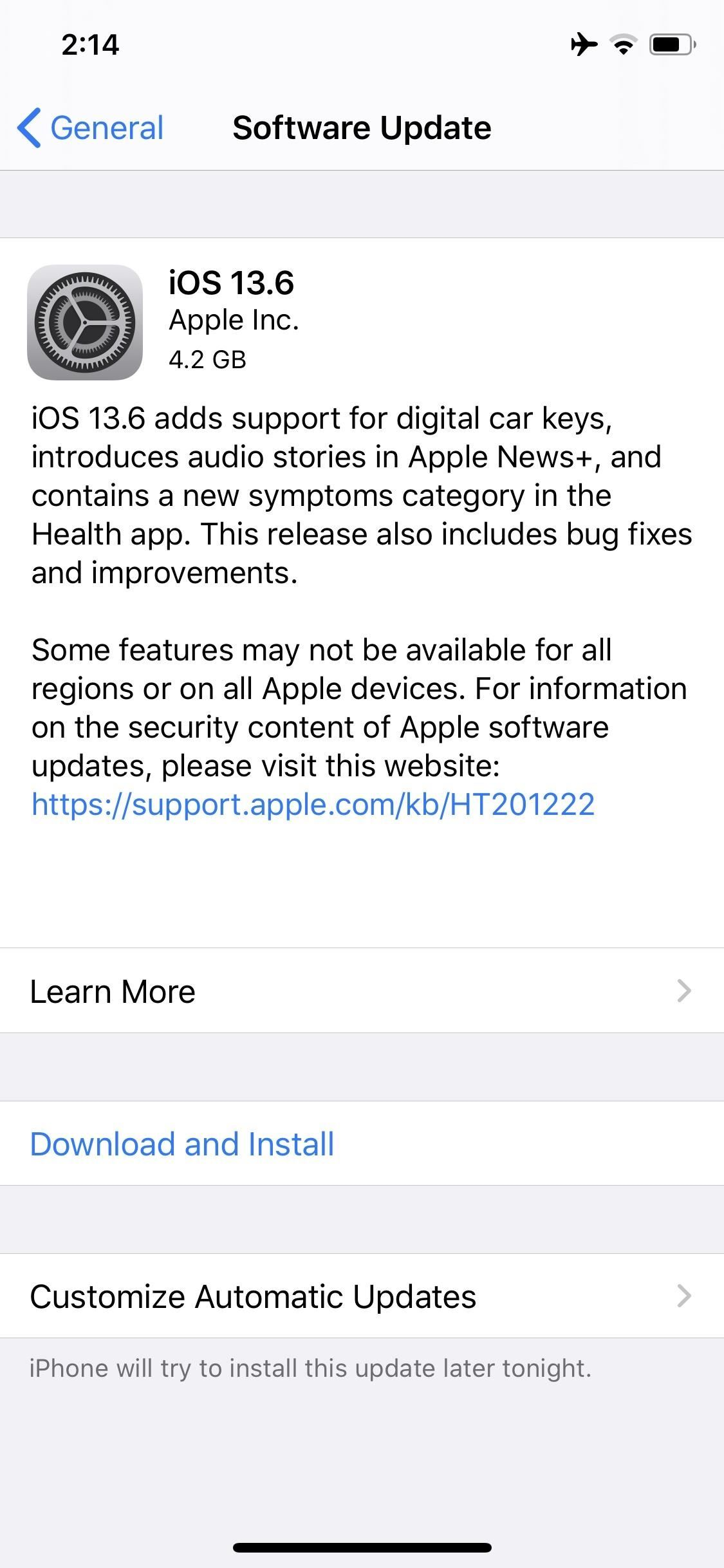 Apple Releases iOS 13.6 GM for Developers, Includes CarKey Support, Apple News Audio & Symptom Tracker