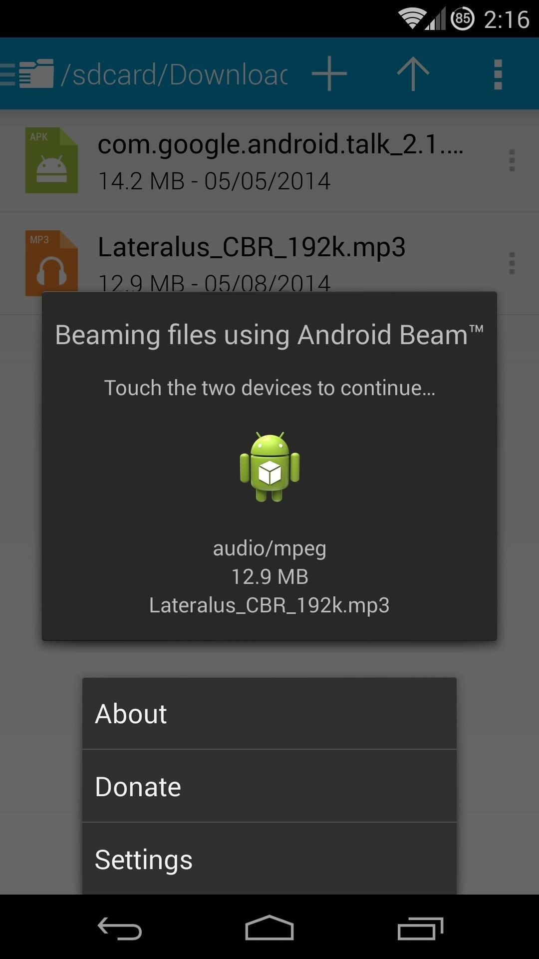How to Beam Any File You Want from Your Nexus 5 to Another Android Device