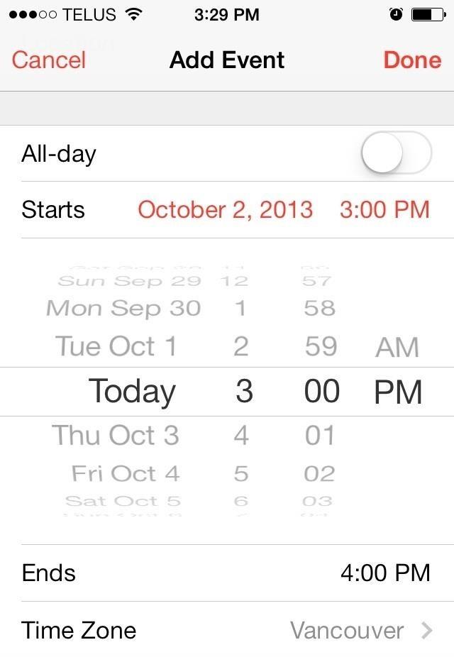 Quick Tip: iOS 7 Calendar