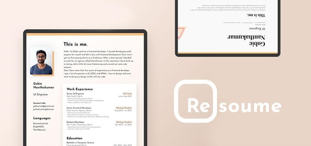 Stay Ahead of the Pack with This Dynamic Résumé Creator