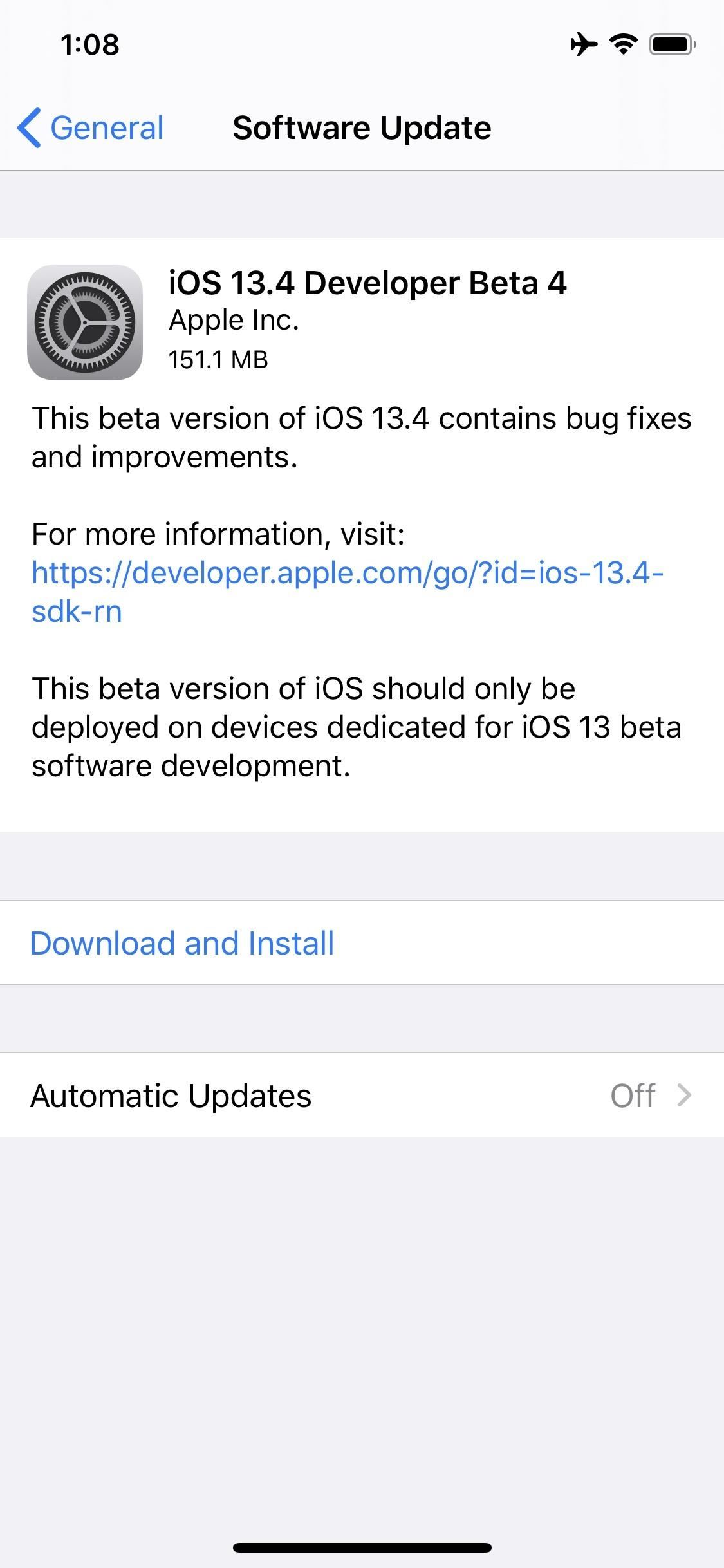 Apple Releases iOS 13.4 Developer Beta 4 for iPhone