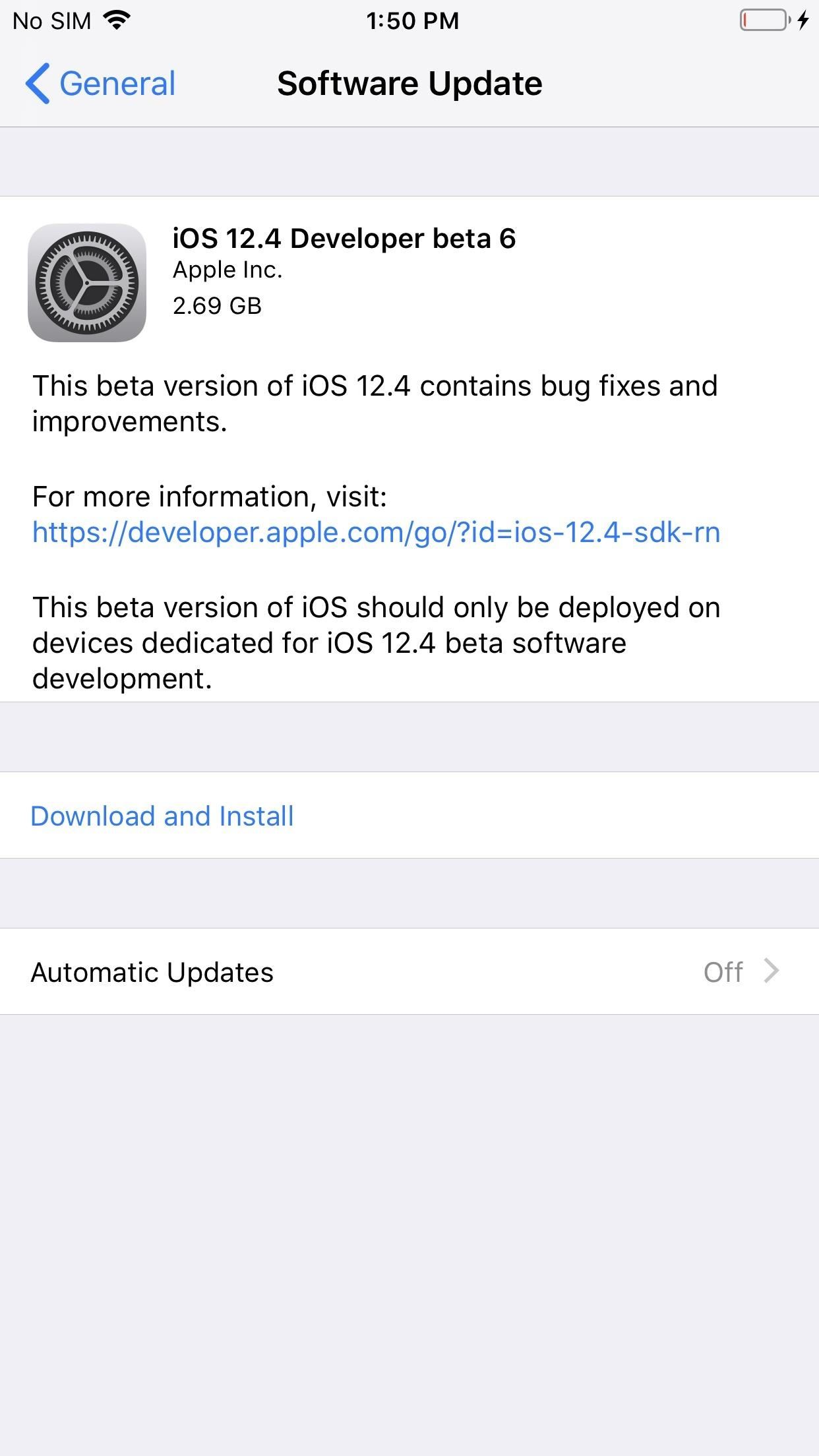 Apple just released iOS 12.4 Developer Beta 6 for iPhone