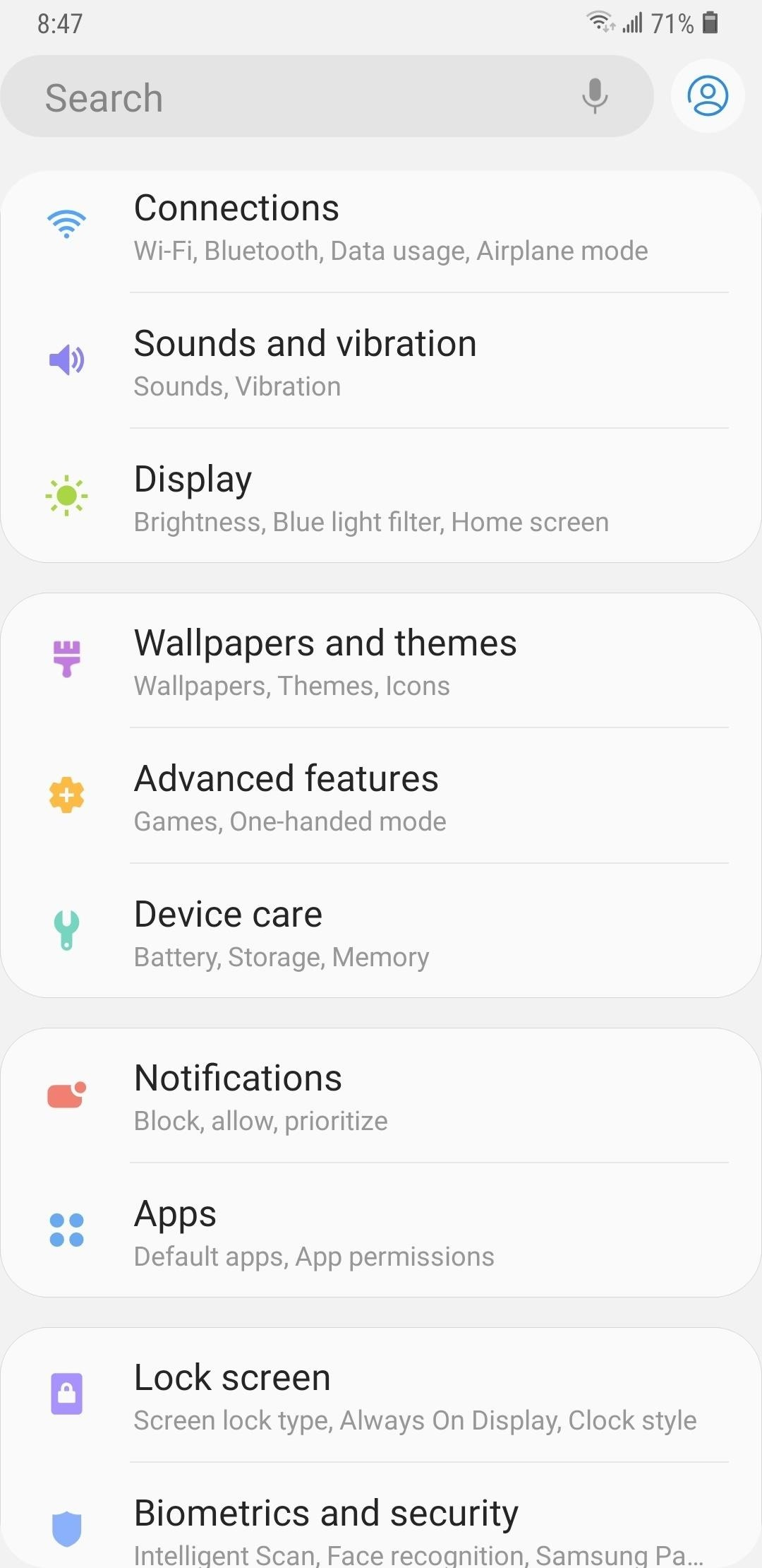 Here's What's New in the Settings Menu on Samsung's One UI
