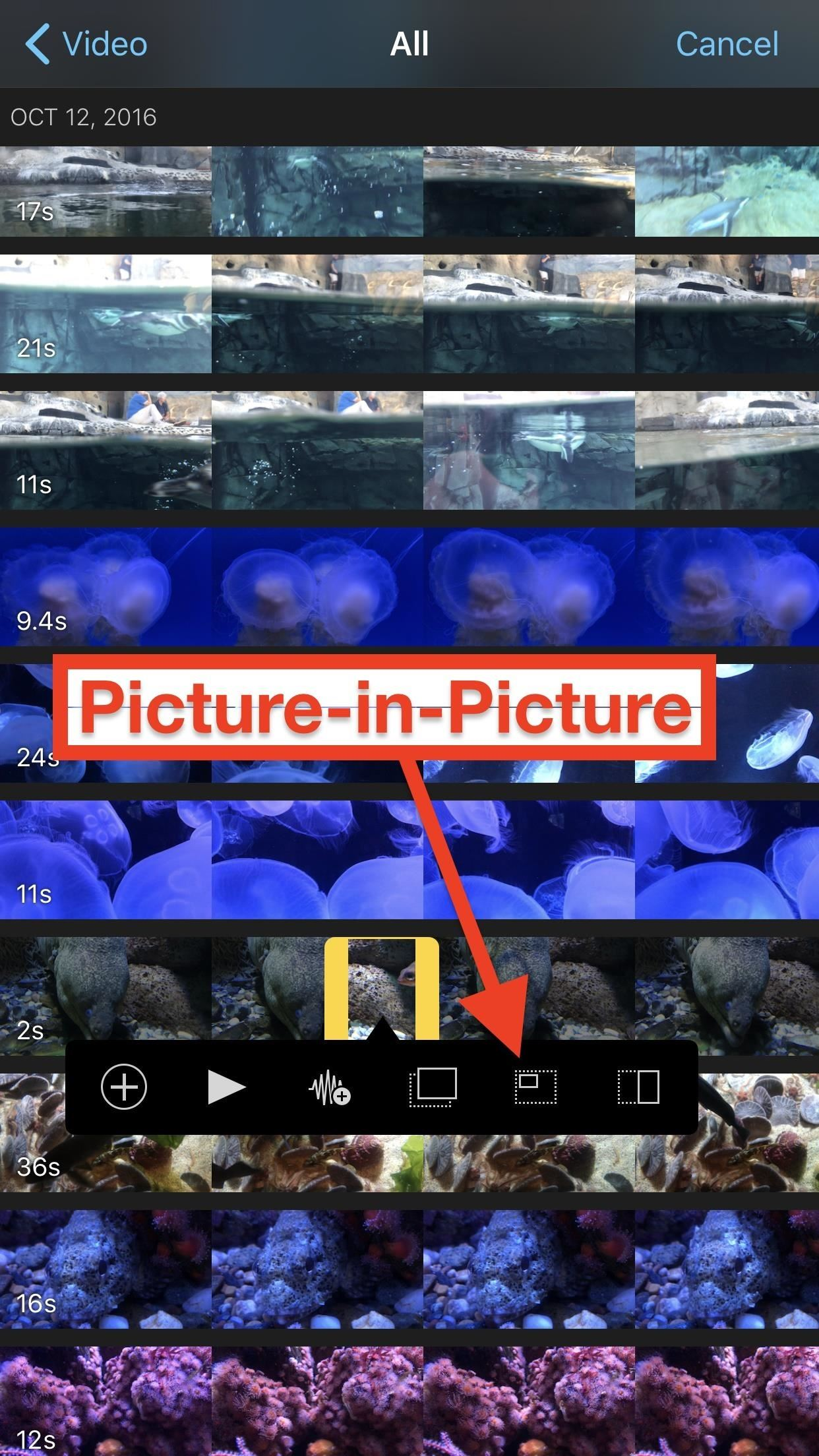 Adding More Video Clips to iMovie Projects on Your iPhone