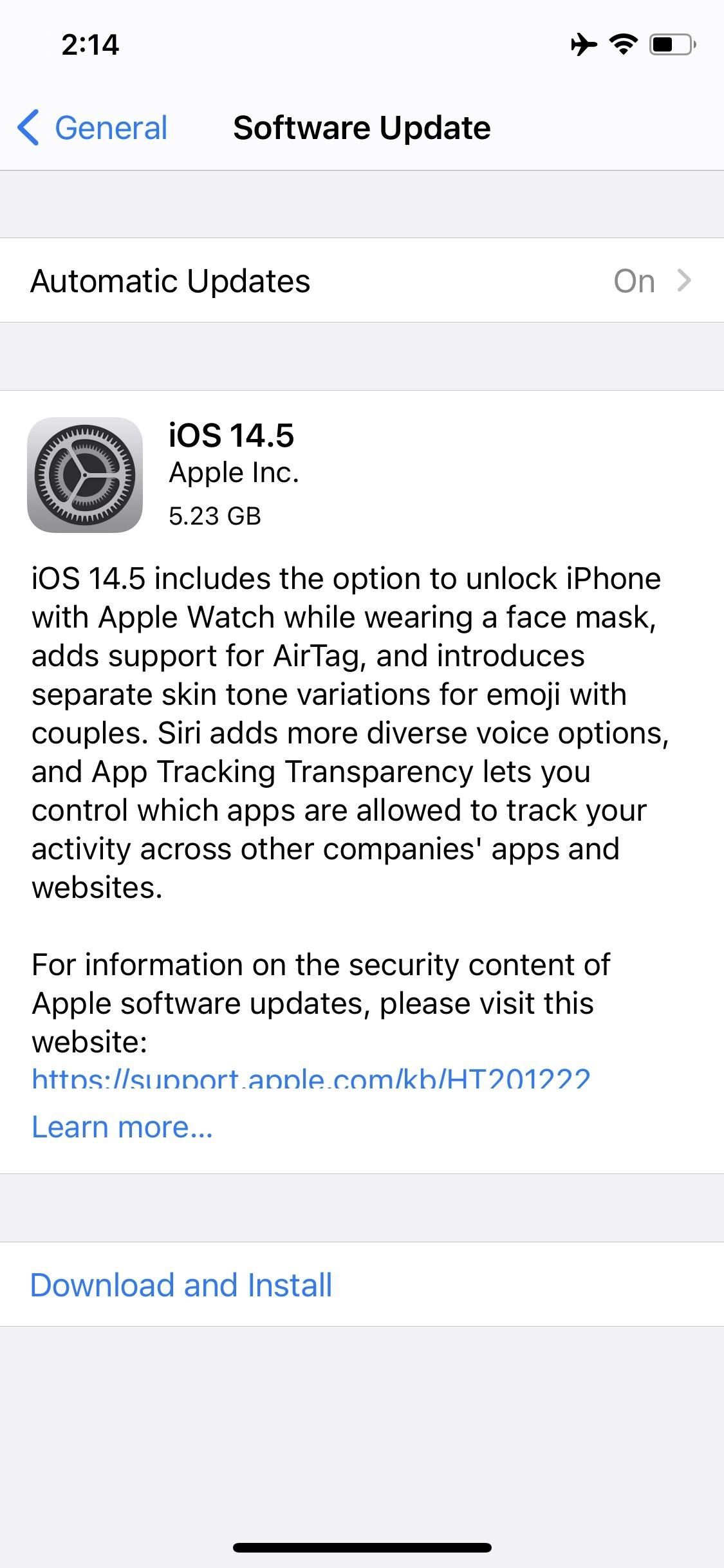The iOS 14.5 Release Candidate Is Now Available for iPhone