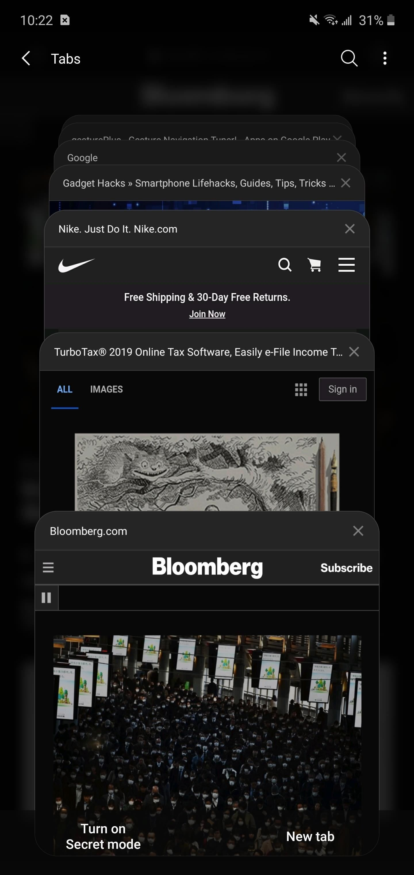 YSK: There's an Easy Way to Change Samsung's Tab Switcher into a Tidy List View