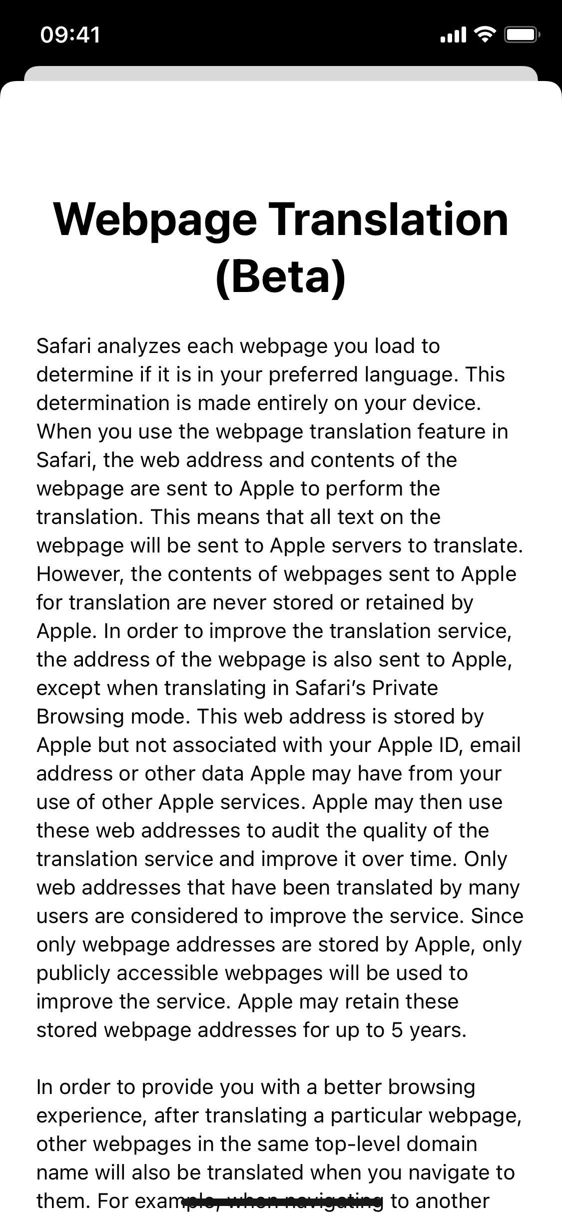 Translate Safari web pages into another language with Apple's new translation tool