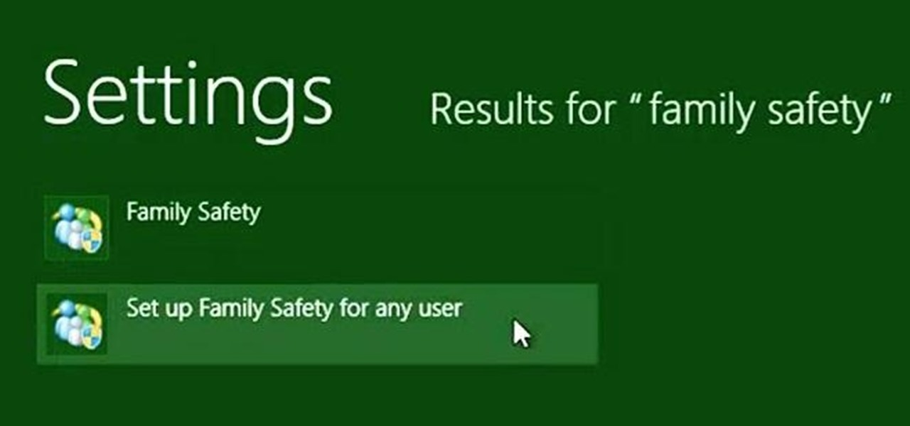 Set Up Parental Controls with the Family Safety Settings in Windows 8