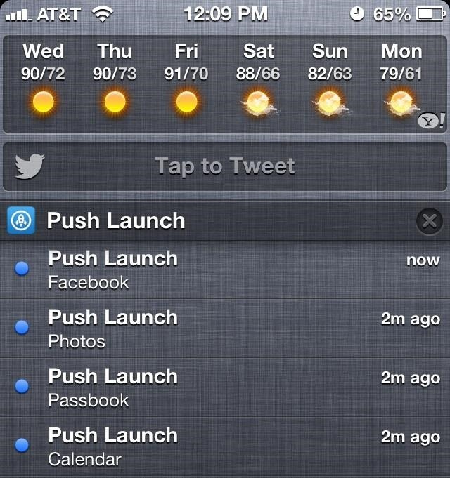 How to Add App Shortcuts to the Pull-Down Notification Center on Your iPhone—Without Jailbreaking