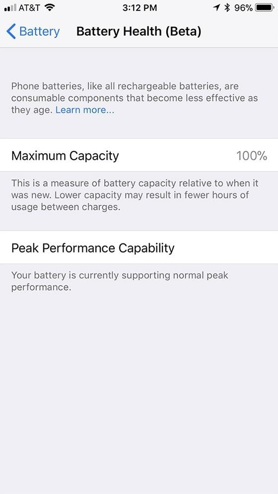 How to Check Your iPhone's Battery Health in iOS 11
