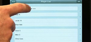 Set up a team for scoring with the ESPN iScore Baseball Scorekeeper iPad app