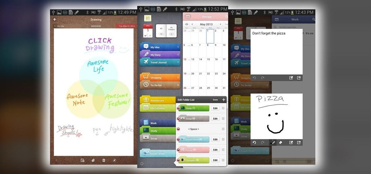 How to Get the Exclusive Awesome Note App from the Galaxy