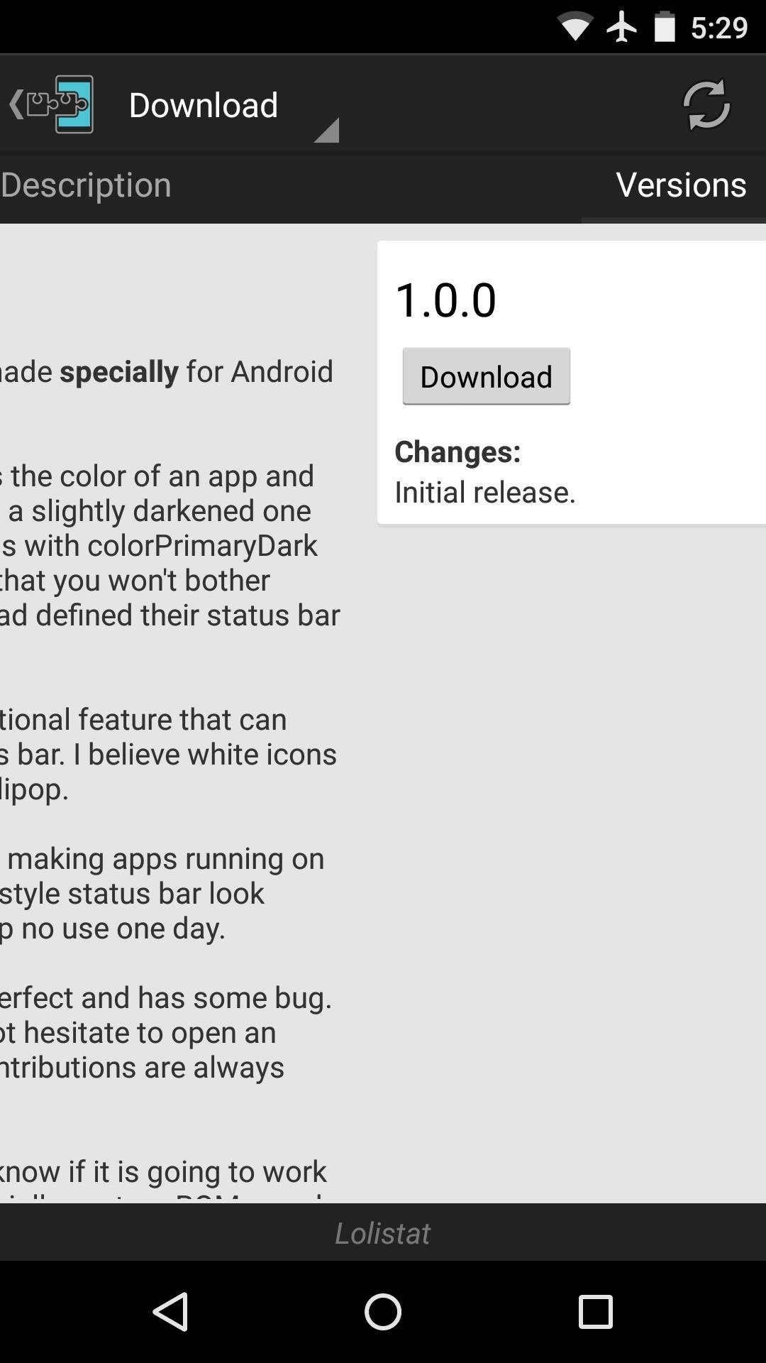 Color Your Status Bar to Match Any App in Android Lollipop