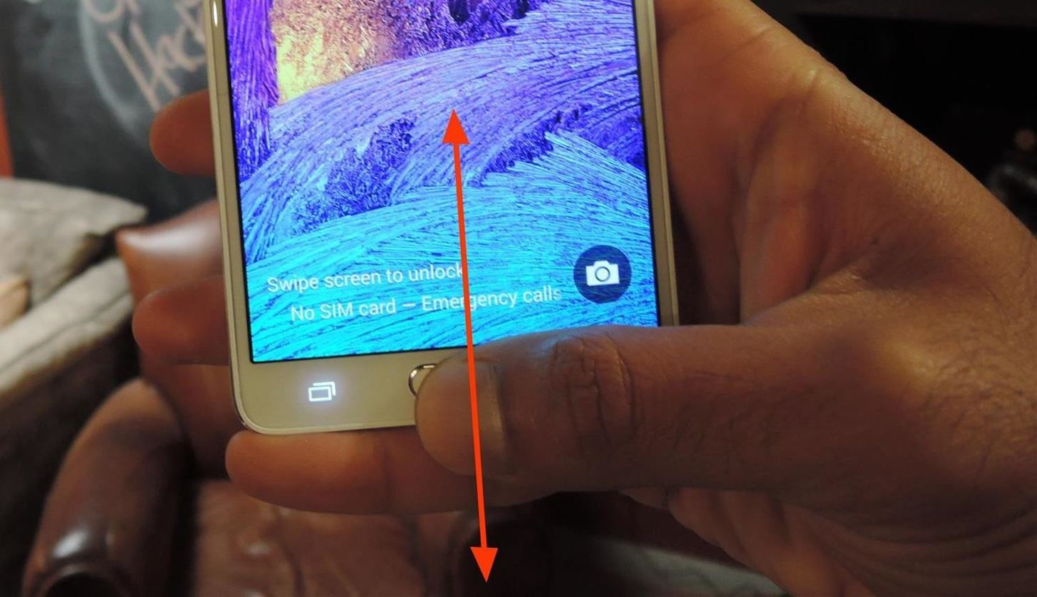 The Trick to Unlocking Your Galaxy Note 4 More Easily with One Hand