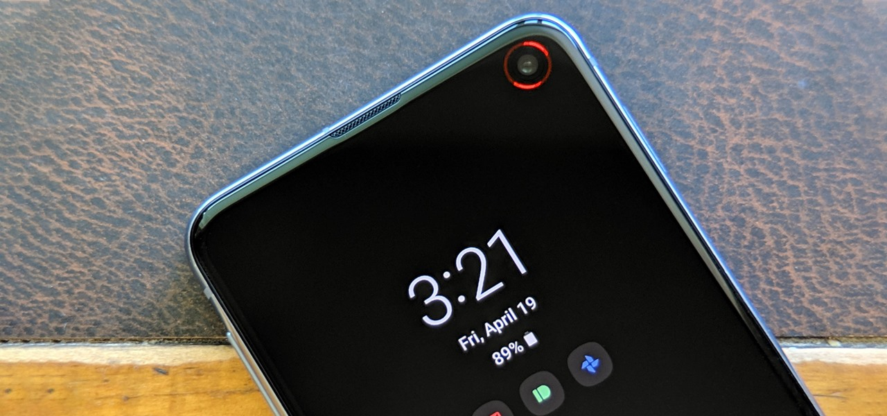 How To Turn Your Galaxy S10 S Camera Cutout Into A Notification Led Android Gadget Hacks