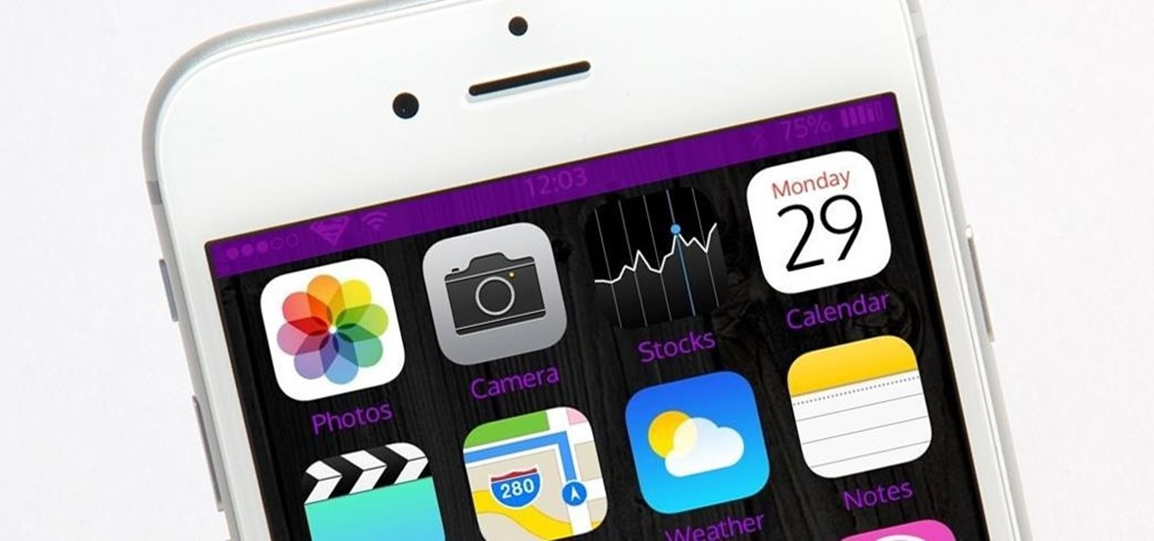 Customize Your iPhone's Status Bar & Icon Label Colors
