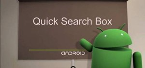Use the quick search box on Android cell phones (2.0)