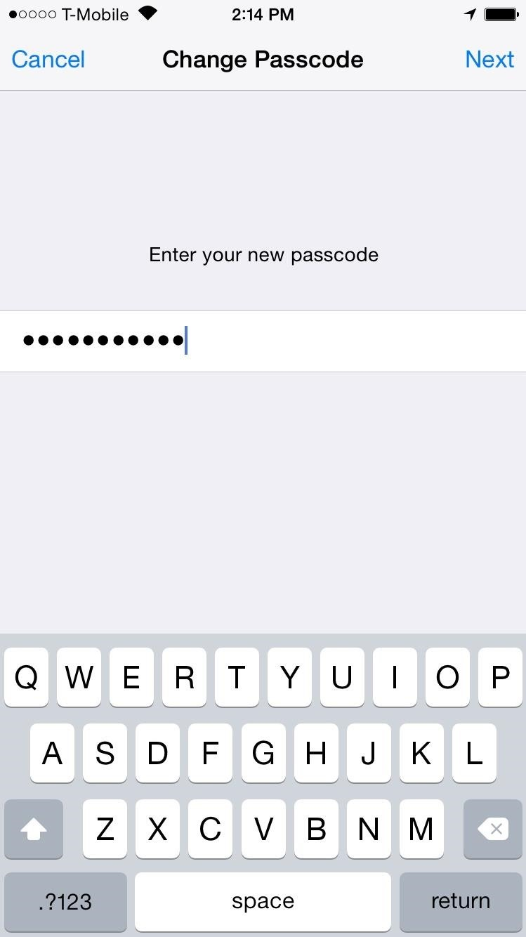 Set an Alphanumeric Lock Screen Passcode for Stronger Security on Your iPhone