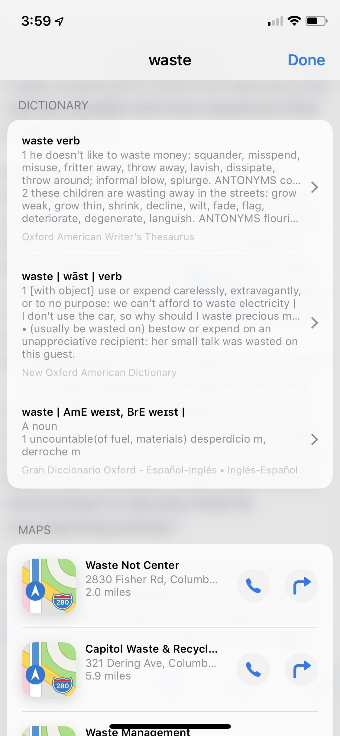 How to Use the Hidden Thesaurus on Your iPhone in iOS 12 for Fast Synonym Searches in 'Look Up'
