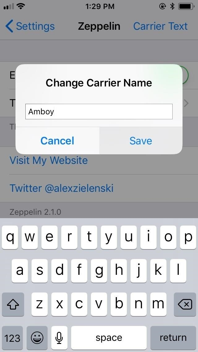 How to Replace the Carrier Name in Your iPhone's Status Bar with Custom Text or Logos