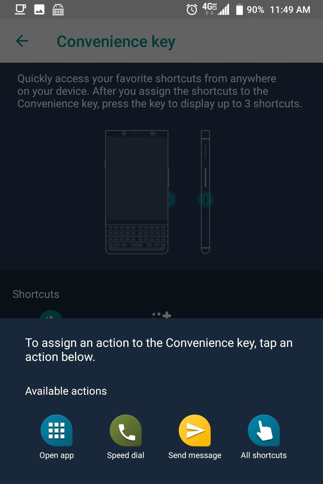 Make the BlackBerry KEY2's Convenience Key Launch Different Apps Based on Your Location