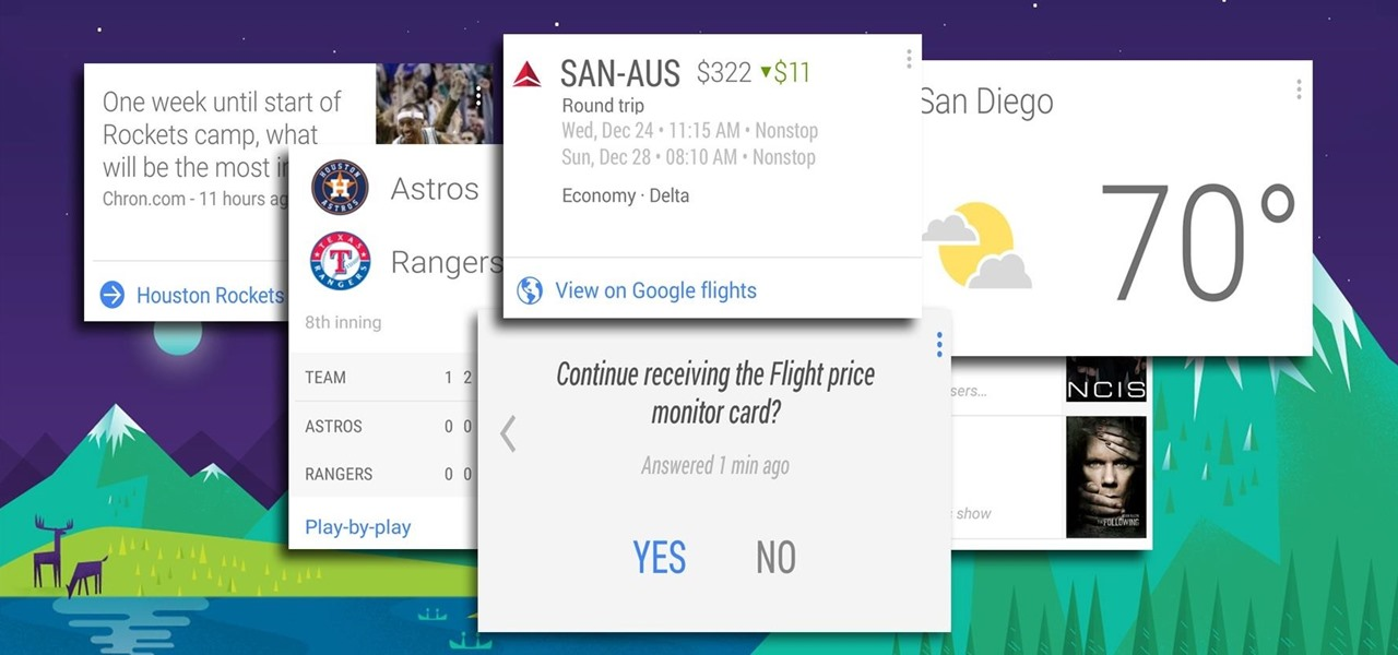Enable Experimental Cards in Google Now for Android