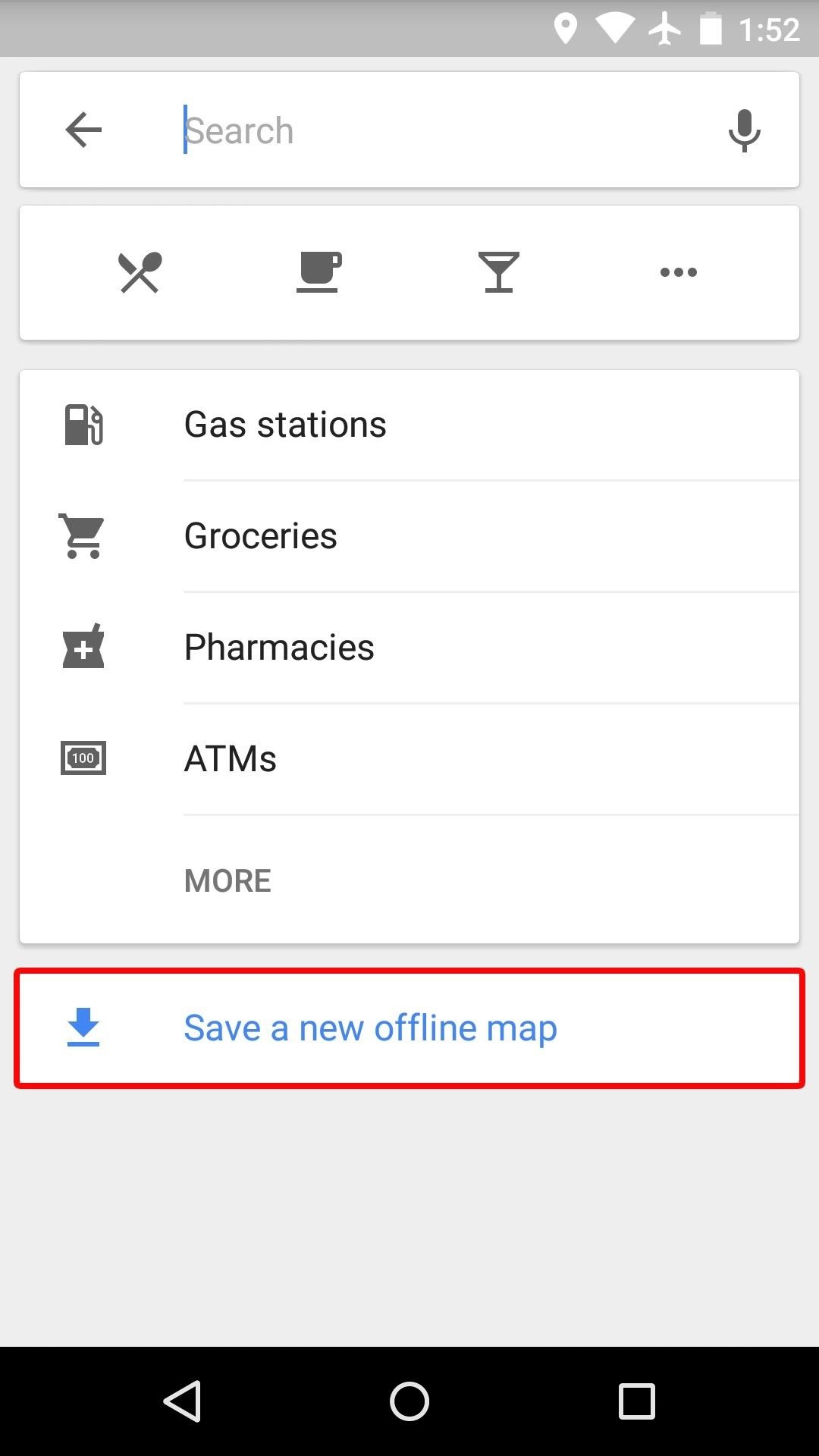 along with maps you may want to download music and videos by using the offline playback options in app like chrome google play music spotify