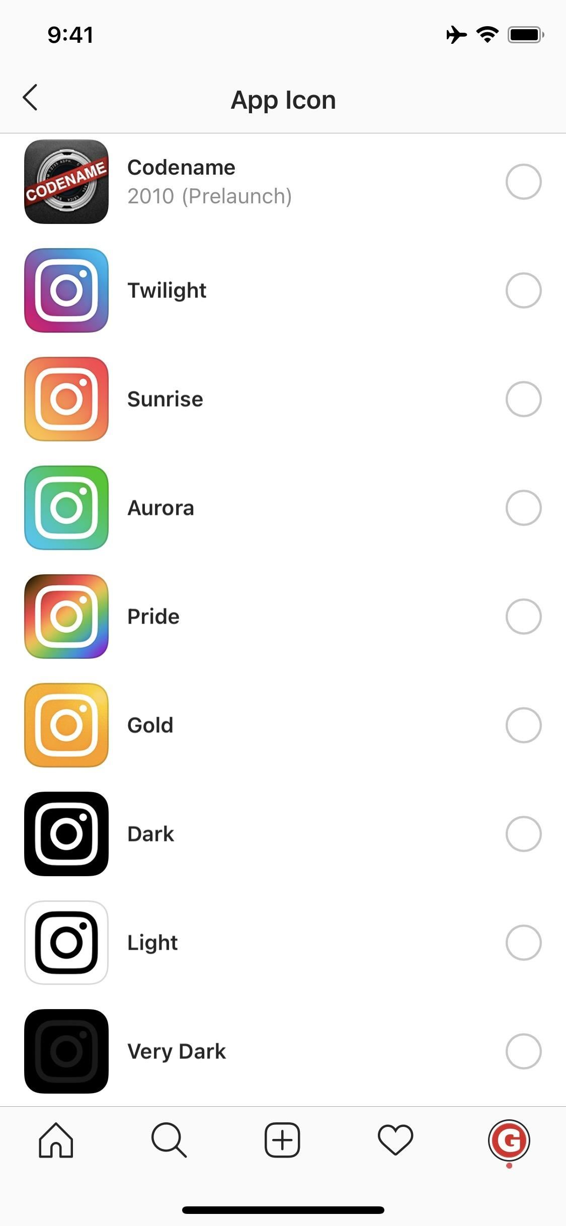 Use Instagram's Secret App Icon Menu to Choose Light, Dark, Retro & Other Official Icon Variations