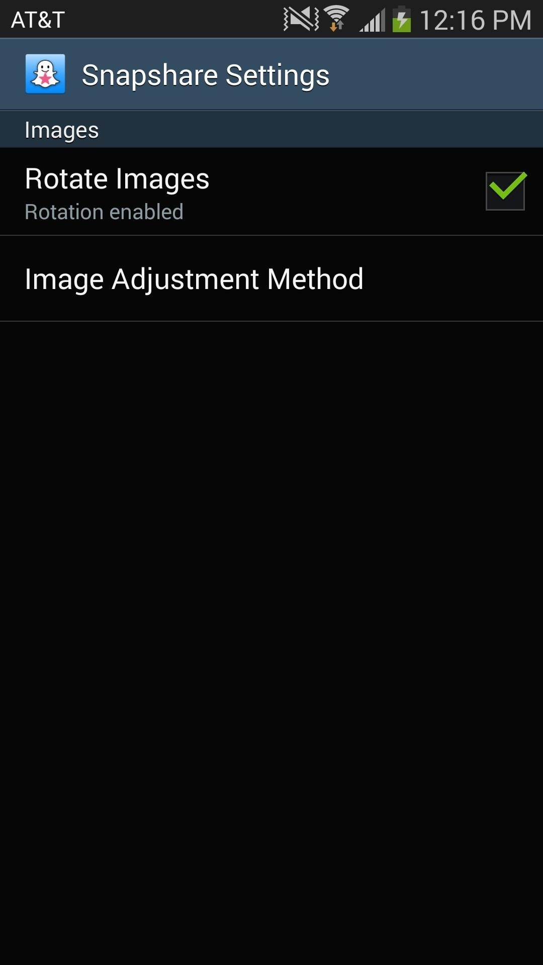 How to use any photo or video in your gallery as a snapchat on step 3customize how images load into snapchat ccuart Image collections