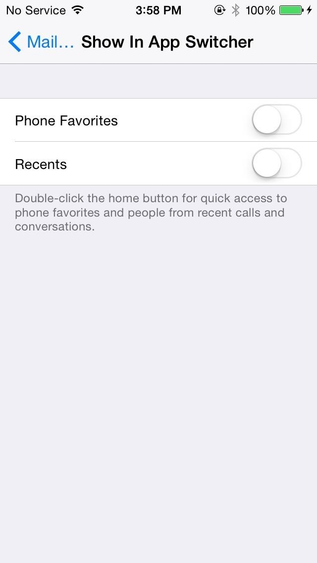 How to Remove Recent Contacts from the iPhone's App Switcher in iOS 8