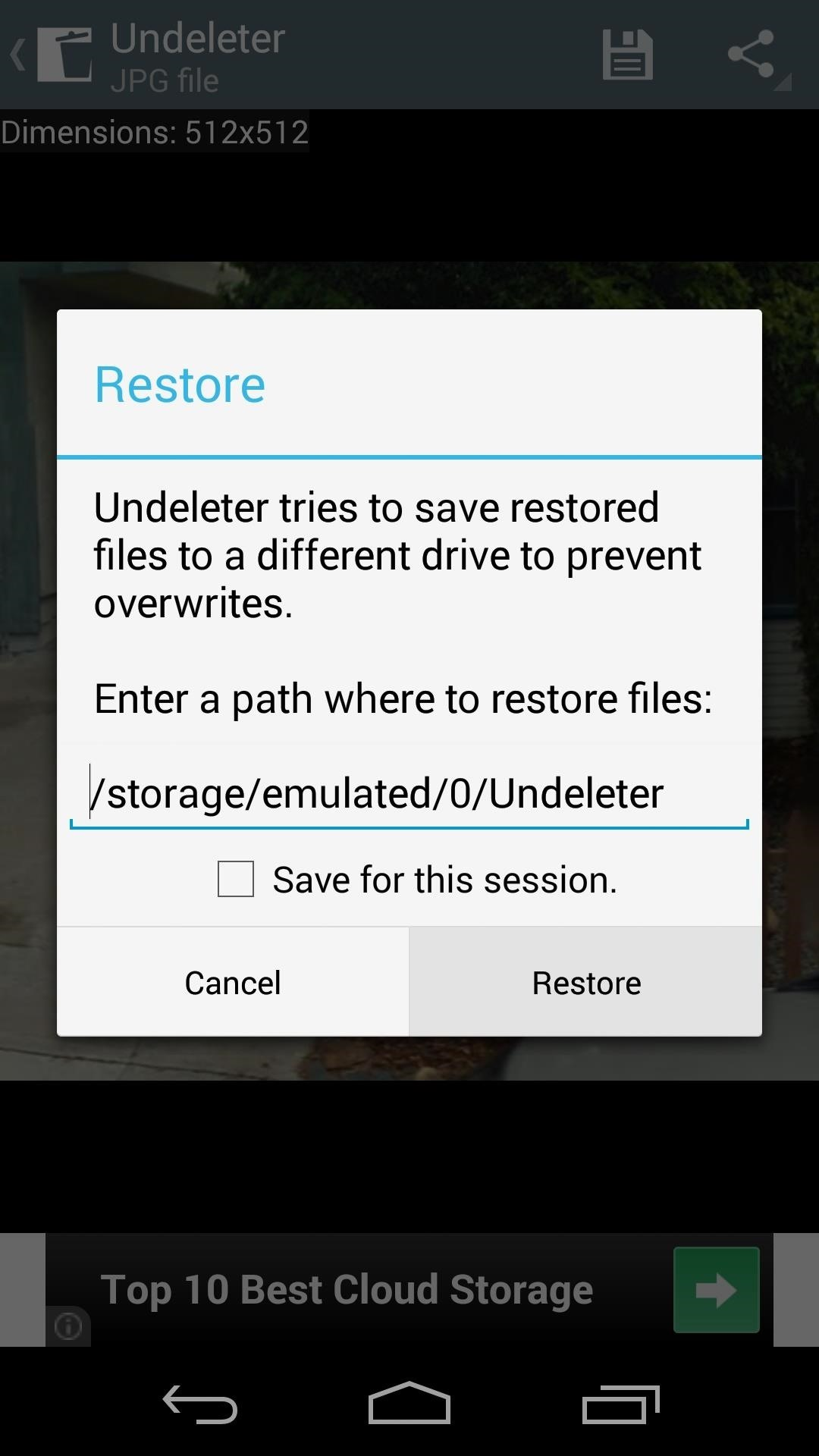 step 3recover a deleted file