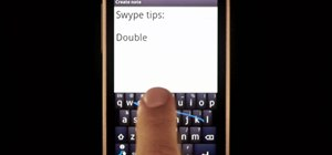 Quickly type 'double letter' words using Swype