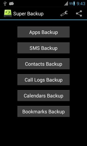 Super Backup: The Fastest Way to Back Up All of the Data on Your Android Device
