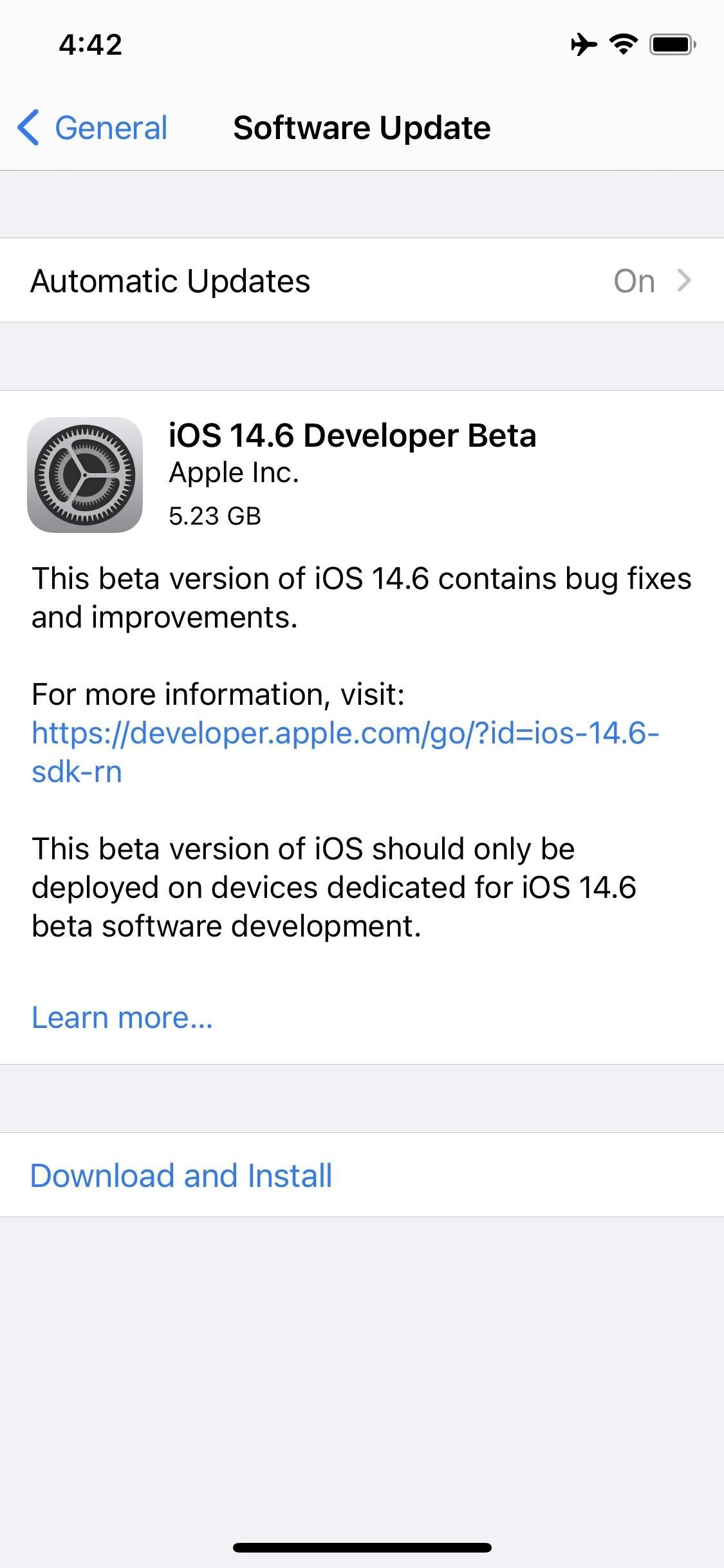 Apple Releases iOS 14.6 Beta 1 for iPhone