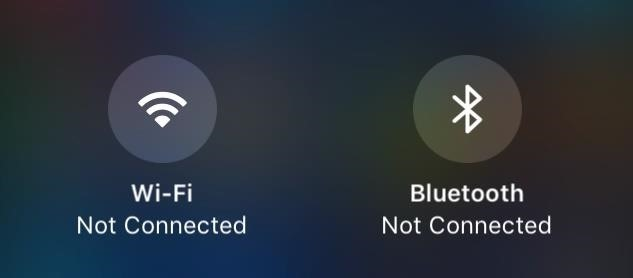 What All the Bluetooth & Wi-Fi Symbols Mean in iOS 11's New Control Center (Blue, Gray, or Crossed Out)