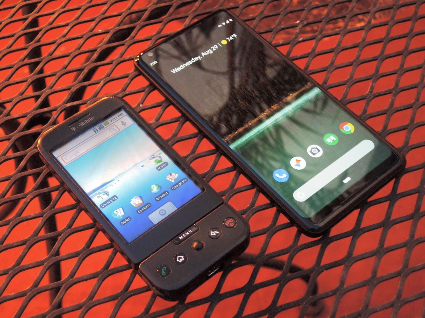The first Android phone debuted 10 years earlier this month - What a difference a decade makes
