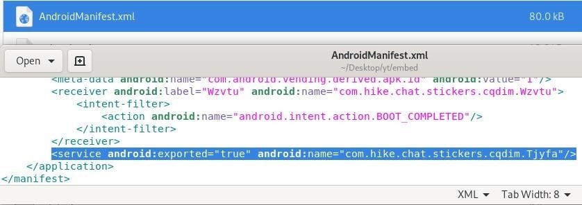 Android Persistent Backdoor Script for Payload Embedded in an Original Apk Using Msfvenom