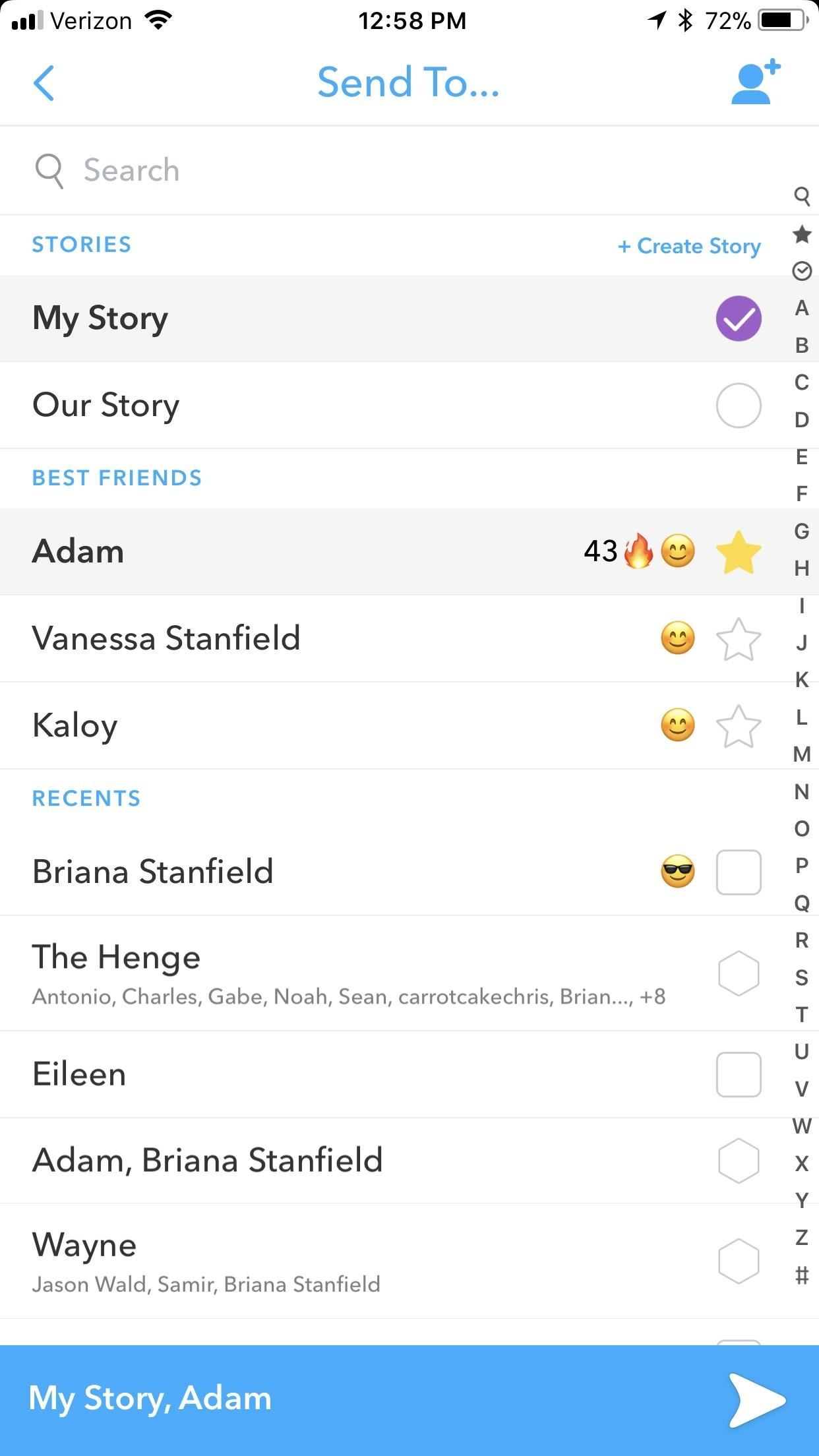 how to add contacts on snapchat