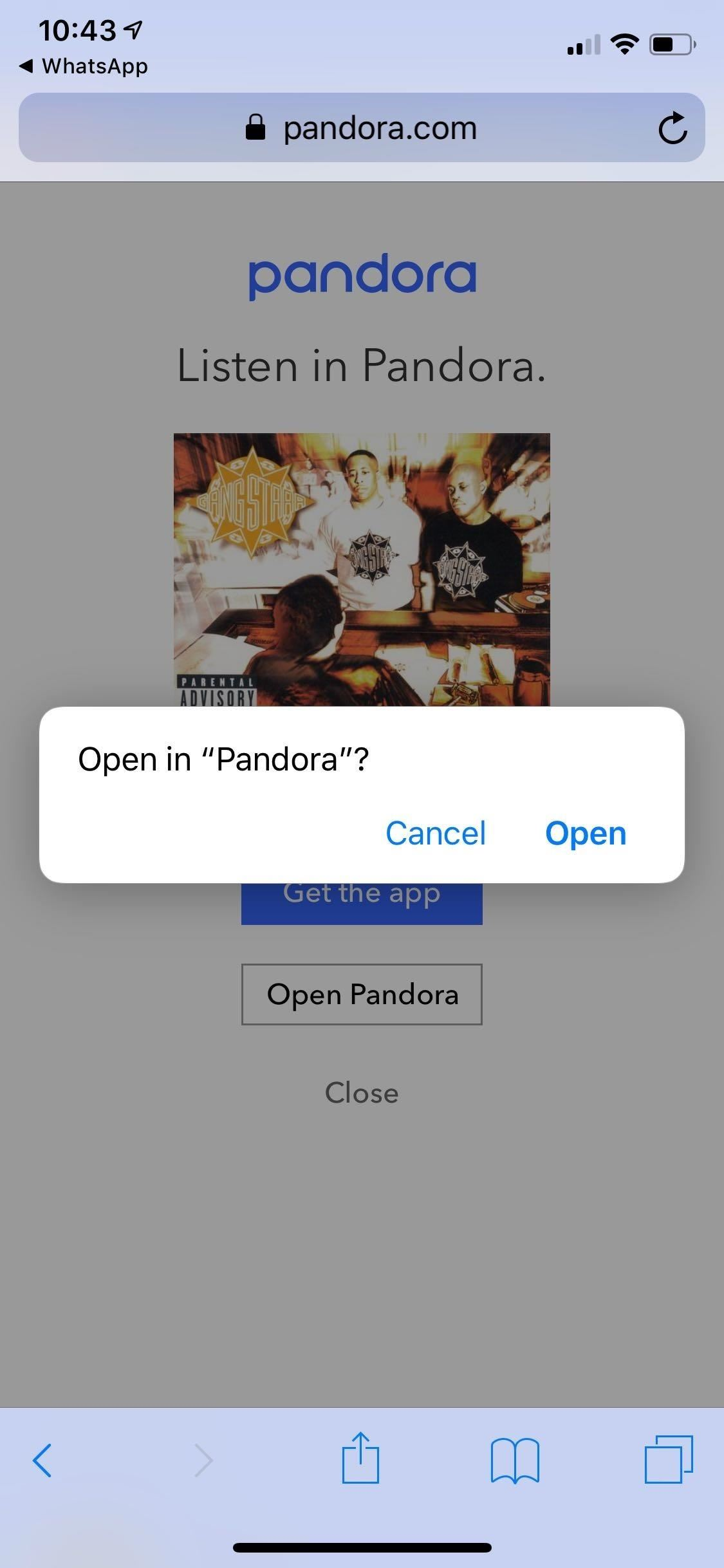 How to Share Songs from Pandora with Friends on WhatsApp, Twitter, or Facebook