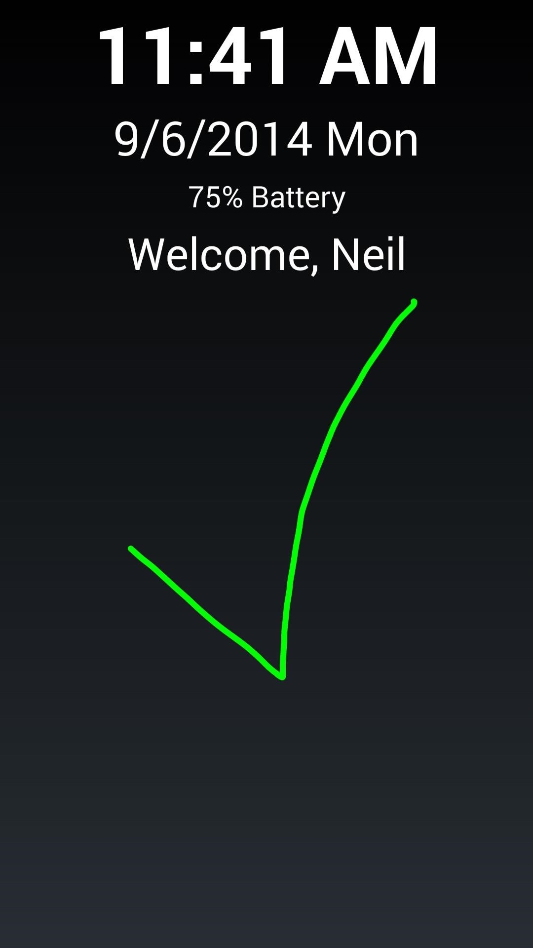 Use Drawing Gestures on Your Galaxy S4's Lock Screen to Perform Actions Faster