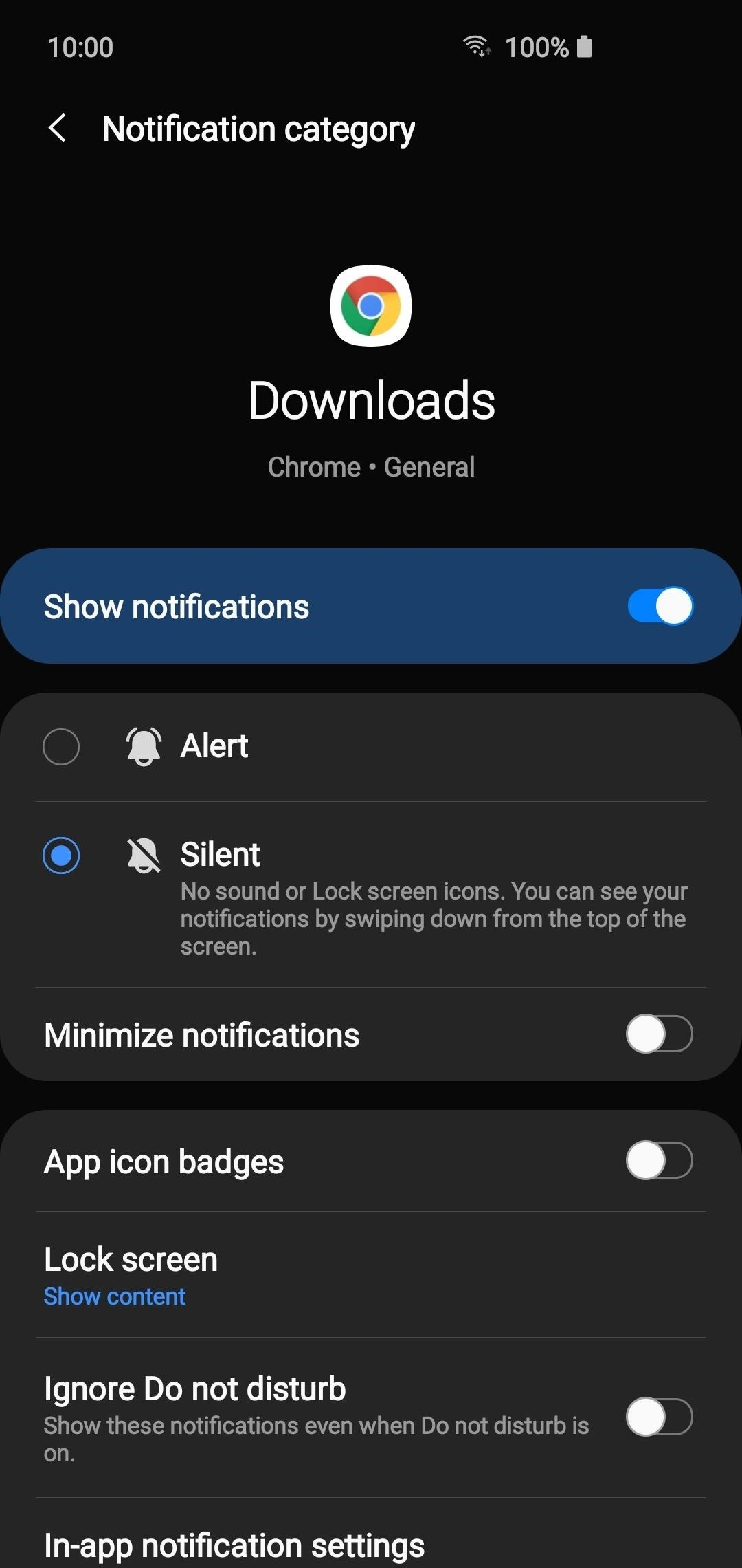 Disable notifications from individual apps on your Android device Phone