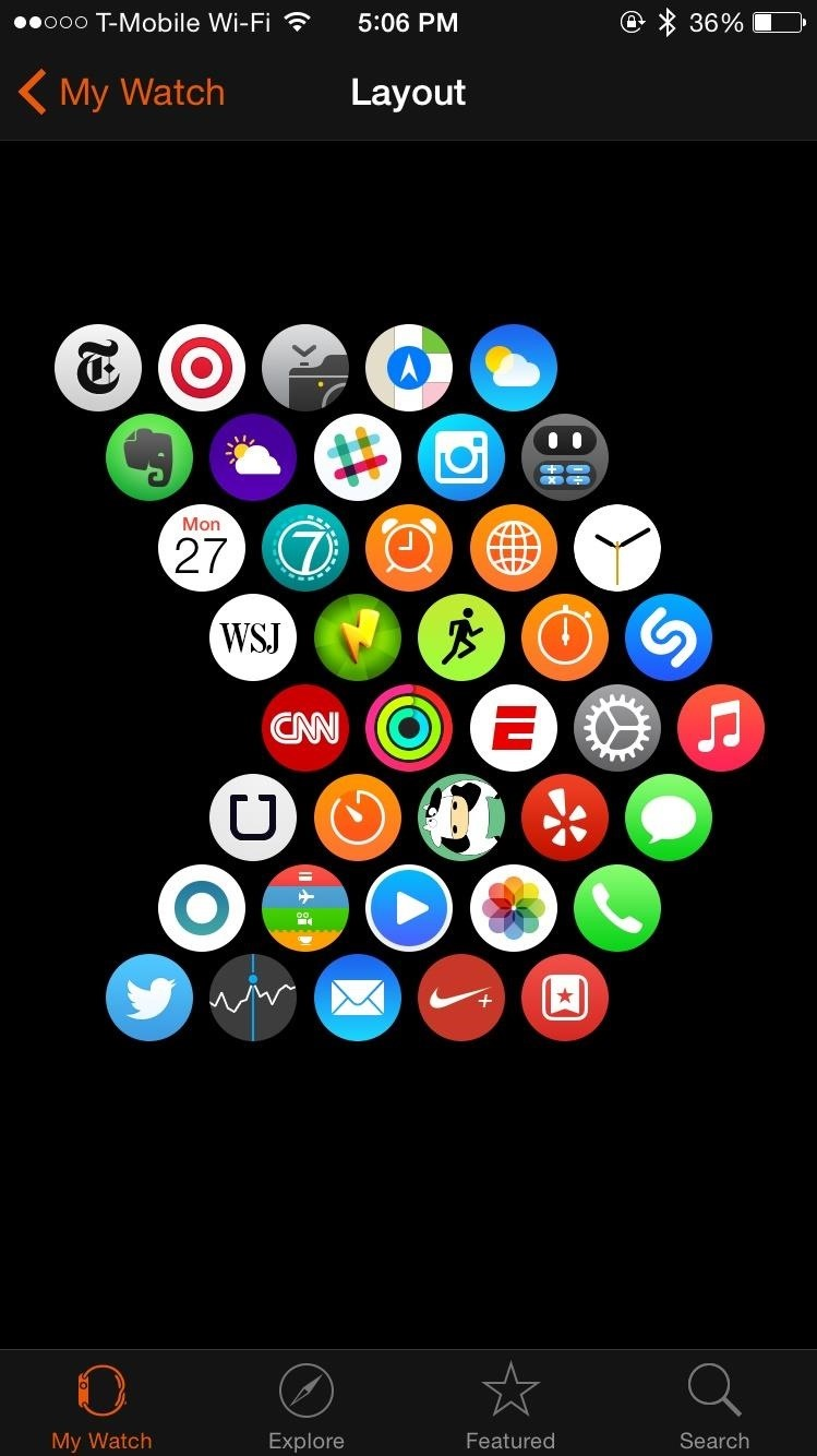 How to Change the Layout of Apps on Your Apple Watch