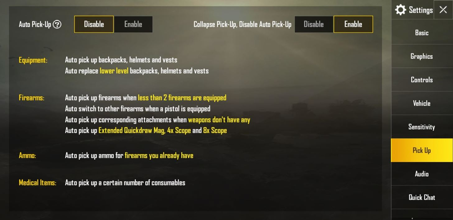 Can't Pick Up the Weapon You Want in PUBG? Turn Off This Setting