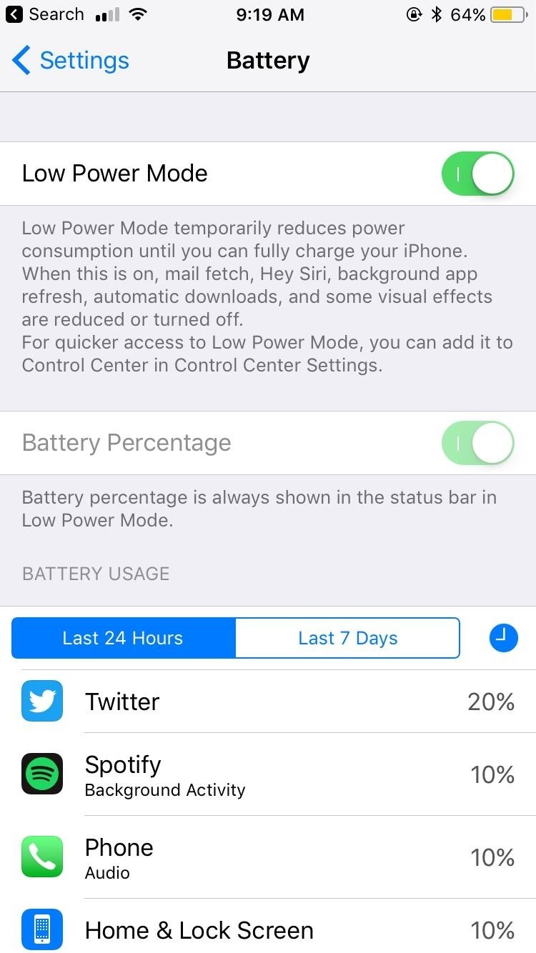 How to Improve Battery Life on Your iPhone in iOS 11