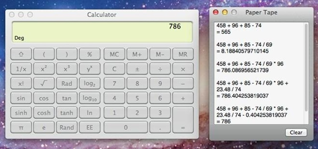 Activate the Little-Known Paper Tape Feature on Mac OS X's Calculator App