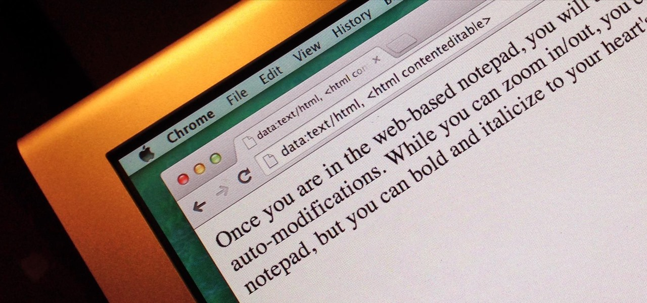 Turn Your Web Browser into a Simple Text Editor for Quick & Convenient Note-Taking