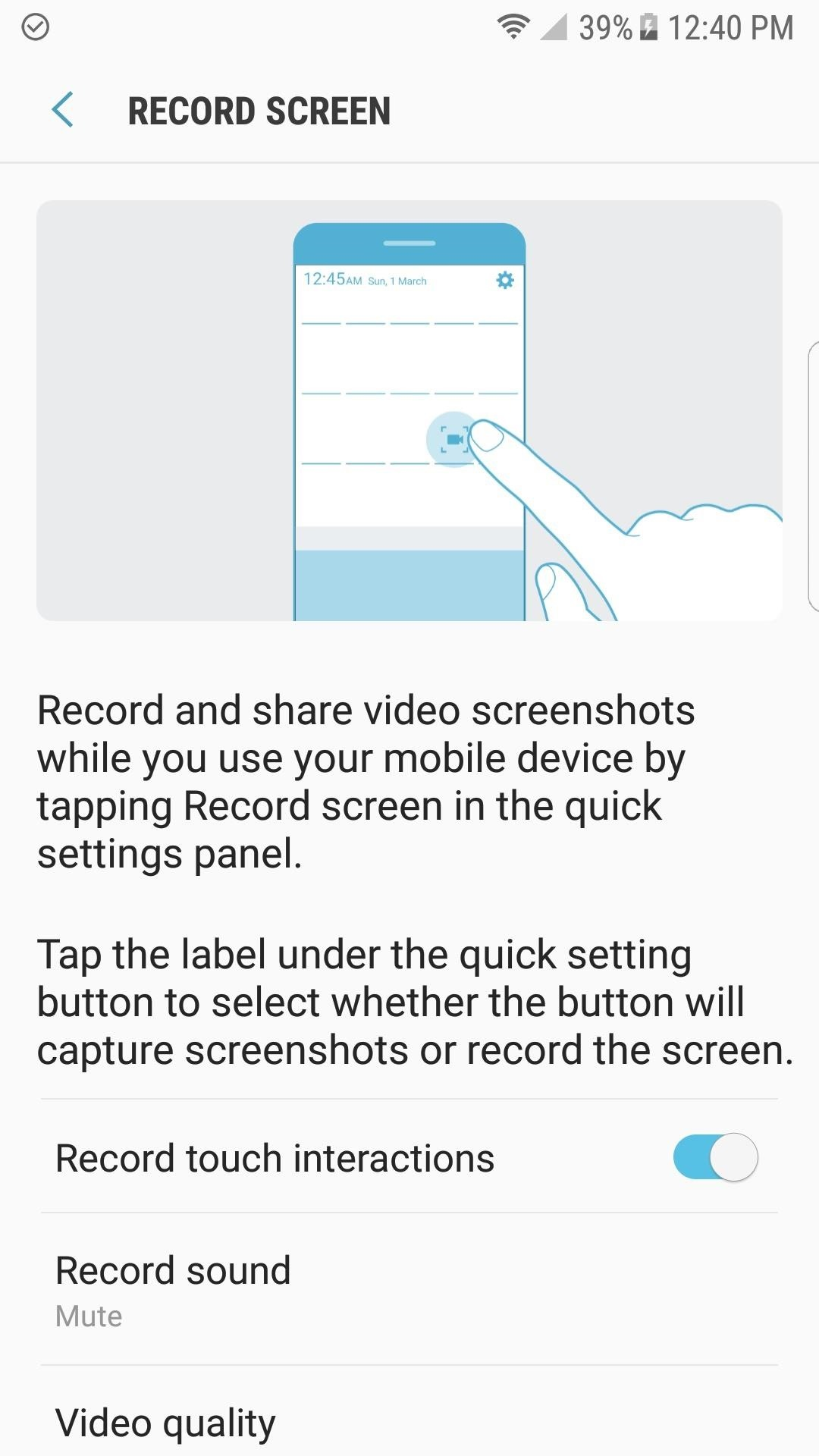 How to Use the Galaxy S8's Hidden Screen Recorder on Other Samsung Devices
