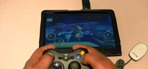 Use an Xbox 360 contoller wirelessly with a Motorola Xoom Android